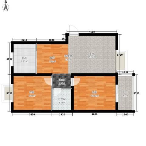 报社家属院2室0厅1卫1厨70.00㎡户型图