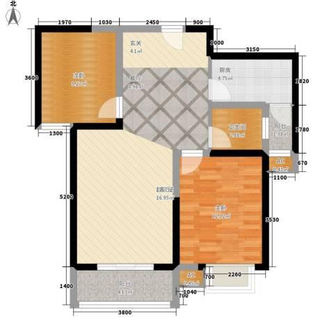 天香心苑2室0厅1卫1厨94.00㎡户型图