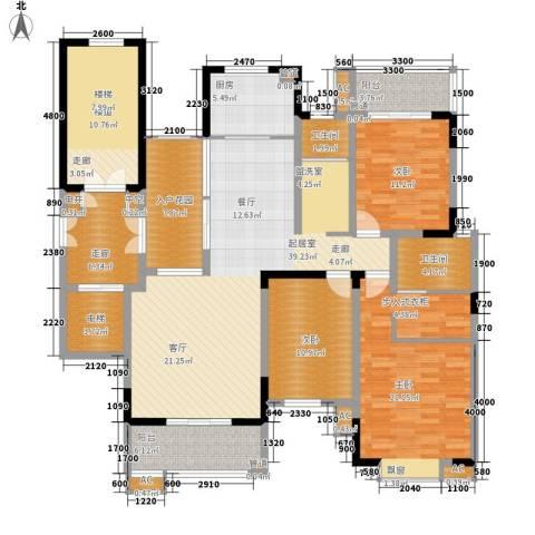 鑫远A派3室0厅2卫1厨142.00㎡户型图