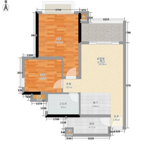 金碧新城2室0厅1卫1厨74.00㎡户型图