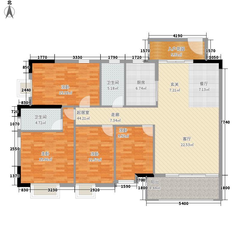 海力花园152.00㎡海力六街1号楼标准层03单元4室户型