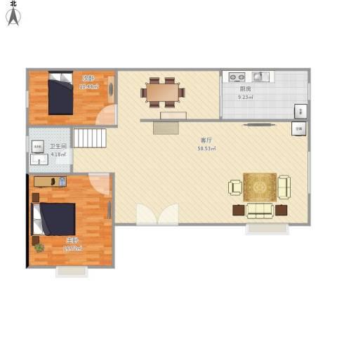 东区自建房2室1厅1卫1厨131.00㎡户型图