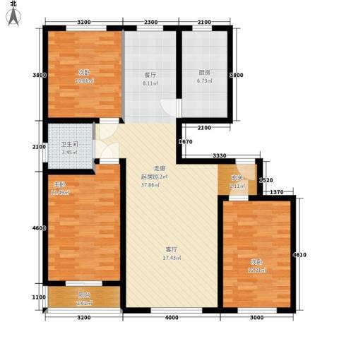 张兴楼3室0厅1卫1厨120.00㎡户型图