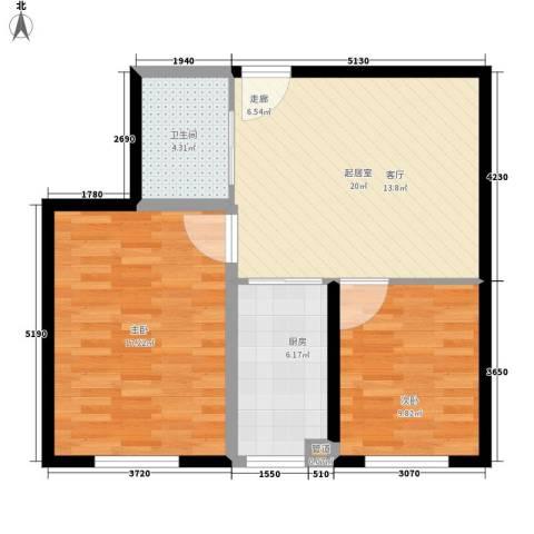 宏府大厦2室0厅1卫1厨65.00㎡户型图