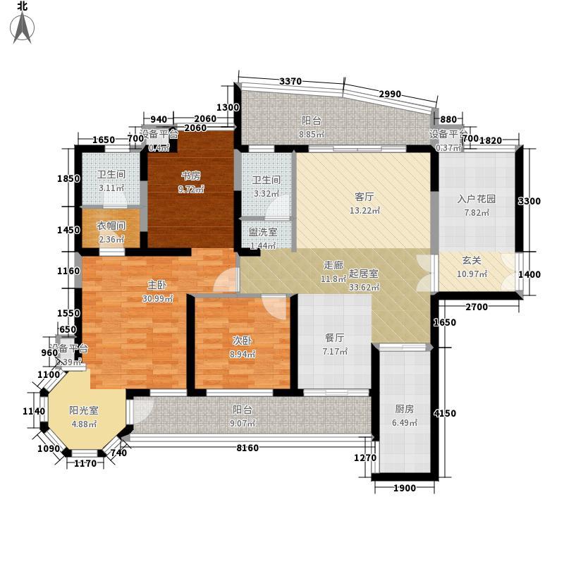 盛世一品146.53㎡4#楼B1标准面积14653m户型