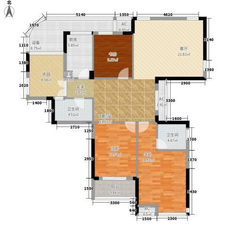 升华公园懿品3室0厅2卫1厨169.00㎡户型图