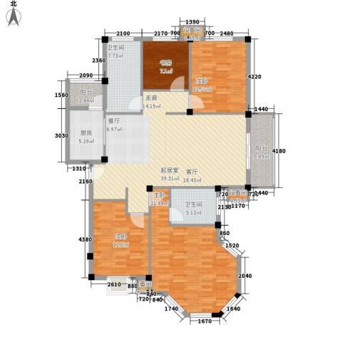 薇湖水岸4室0厅2卫1厨141.00㎡户型图