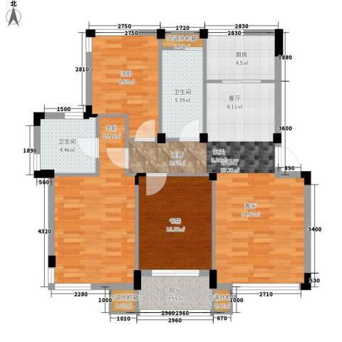 半岛名墅洋房3室1厅2卫1厨283.00㎡户型图