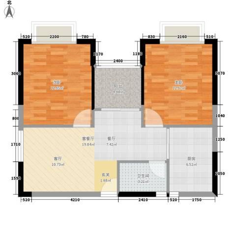 东安大厦2室1厅1卫1厨82.00㎡户型图