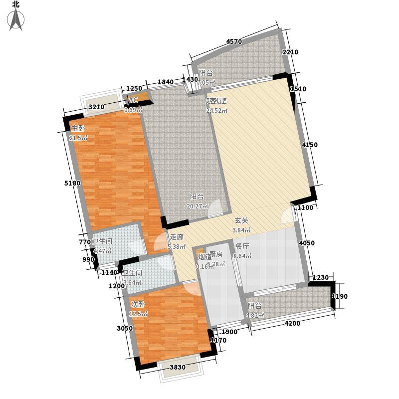 翰林国际136.19㎡2号楼02单元2室户型