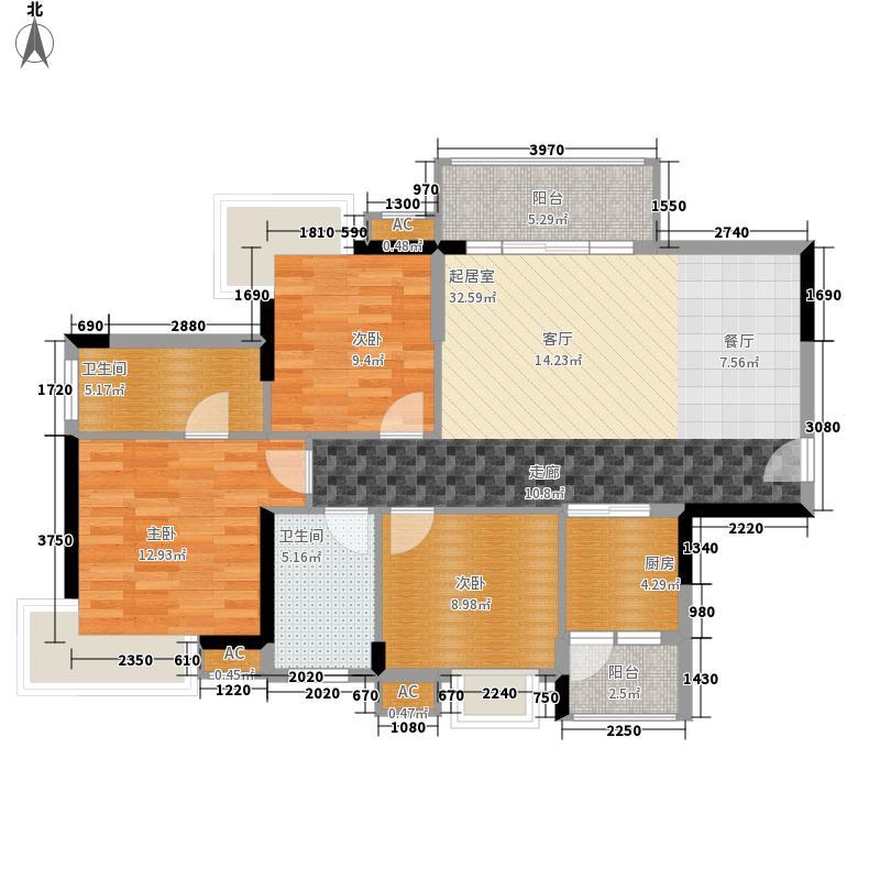 香市1号96.00㎡5栋标准层01、04面积9600m户型