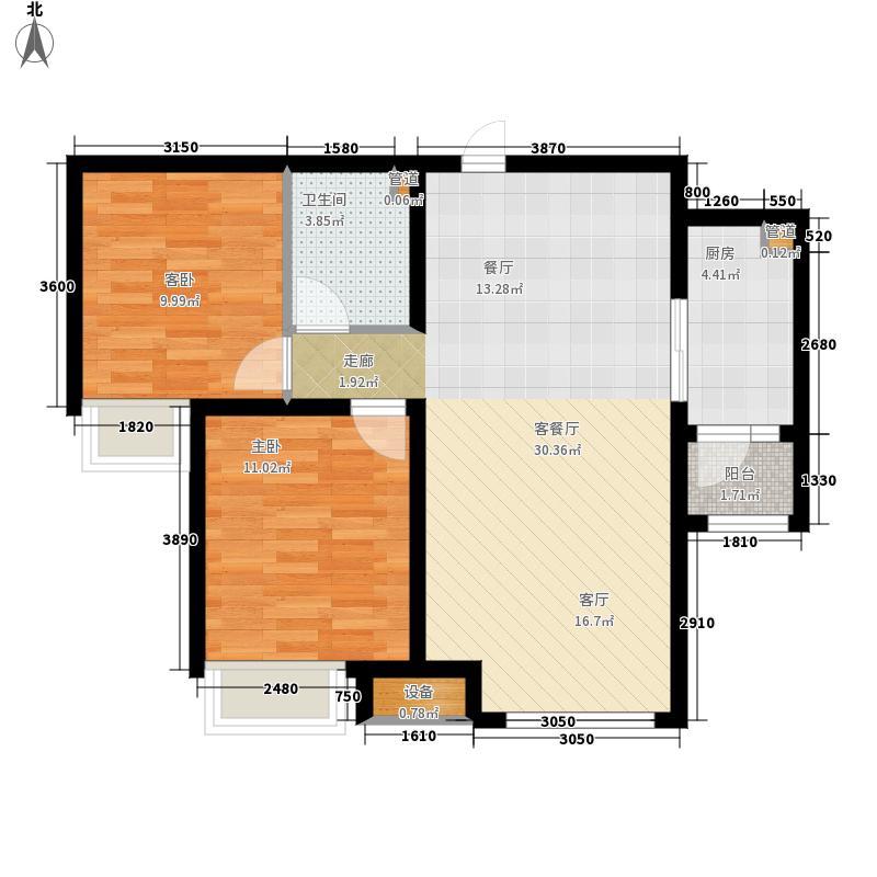 中海国际社区89.85㎡香堤公馆2-7#户型