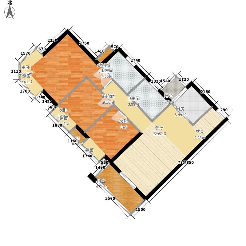海伦堡御院85.70㎡12座1梯标准层面积8570m户型