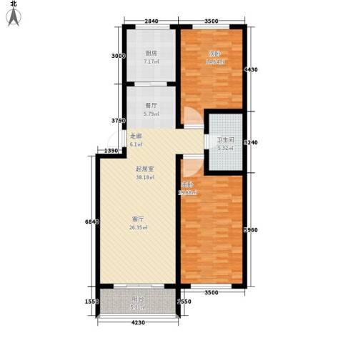 丰河苑东区2室0厅1卫1厨102.00㎡户型图
