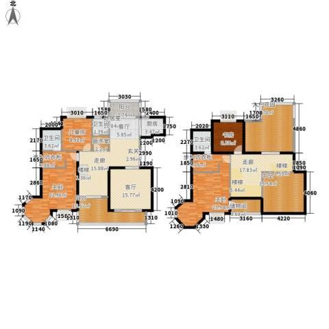 盛世名门4室1厅3卫1厨220.00㎡户型图