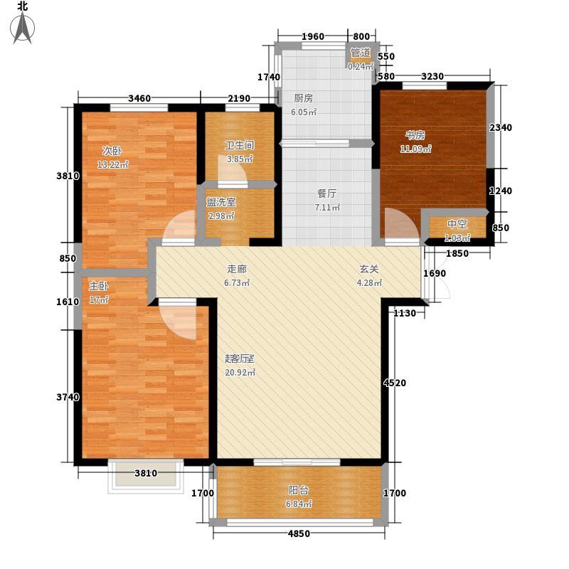 郑上品115.00㎡A户型3室2厅