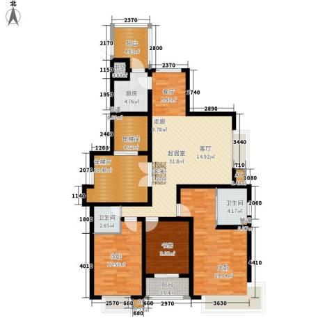 蓝星万象城3室0厅2卫1厨137.00㎡户型图