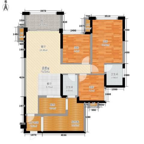 天香3室0厅2卫1厨112.00㎡户型图
