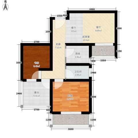 盛世一品1室0厅1卫1厨70.00㎡户型图