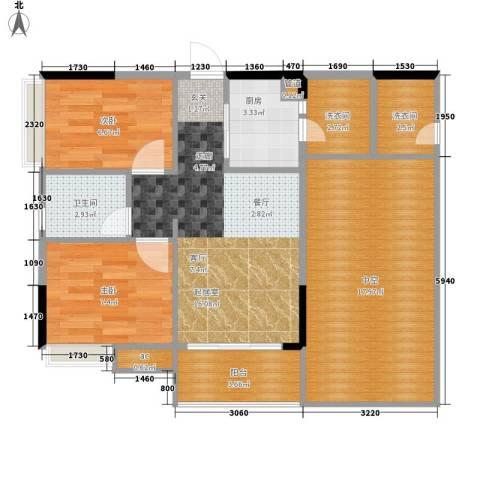 盛恒家园2室0厅1卫1厨70.00㎡户型图