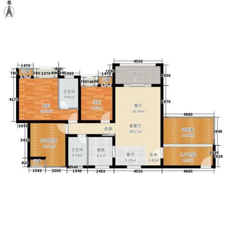 芙蓉新天地2室1厅2卫1厨171.00㎡户型图