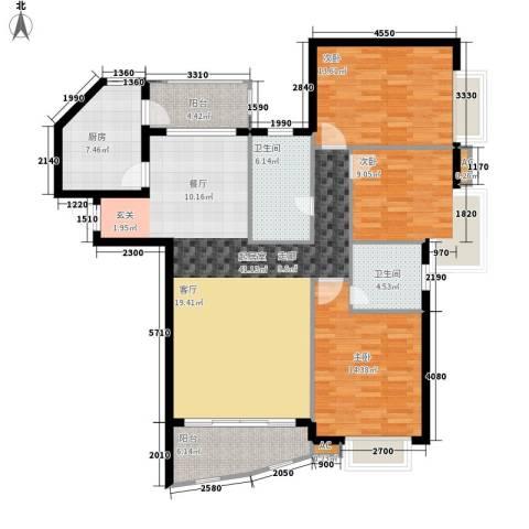 湘中海星之都3室0厅2卫1厨131.00㎡户型图