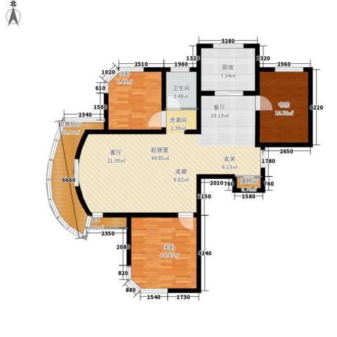 君临颐和花园3室0厅1卫1厨115.00㎡户型图
