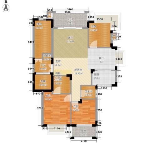 中建桂苑3室0厅2卫1厨141.00㎡户型图