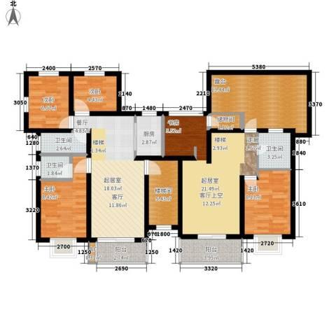 景湾小区4室0厅3卫1厨154.00㎡户型图