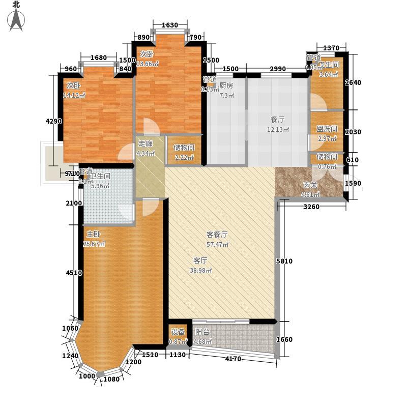 冀兴尊园175.82㎡7#楼二单元E3室面积17582m户型