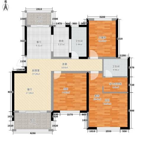 利民君临天下2室0厅2卫1厨132.00㎡户型图
