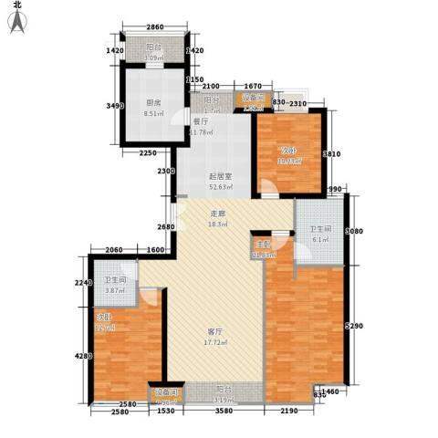 桃花园南里3室0厅2卫1厨169.00㎡户型图