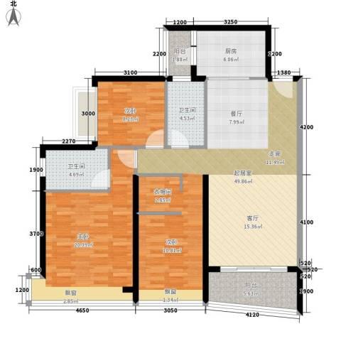 盛世一品2室0厅2卫1厨126.00㎡户型图