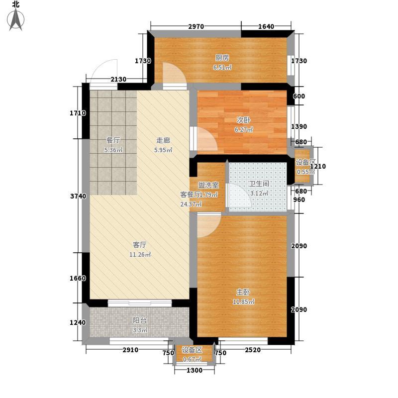 花样年花郡81.00㎡高层70、74、75号楼标准层C户型
