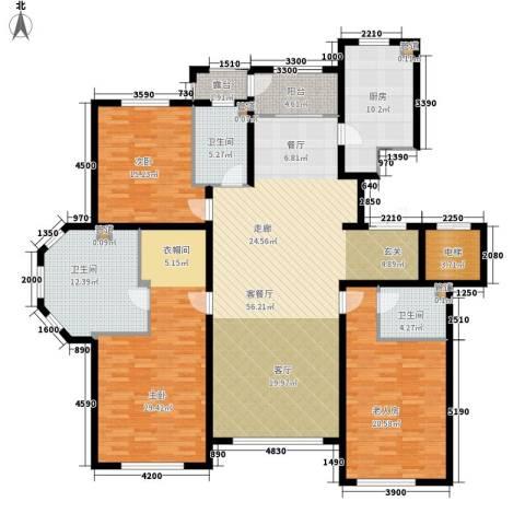 辰能溪树河谷3室1厅3卫1厨226.00㎡户型图