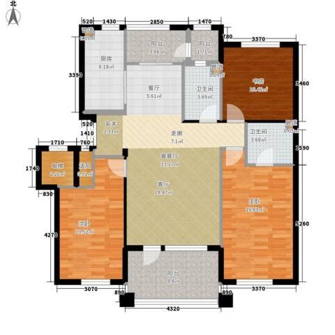 辰能溪树河谷3室1厅2卫1厨149.00㎡户型图