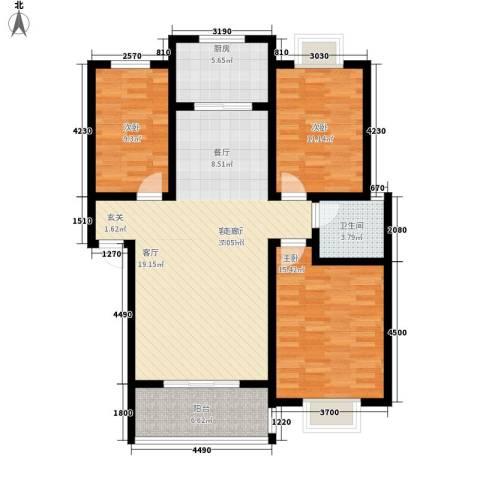 随县神龙湾3室1厅1卫1厨111.00㎡户型图