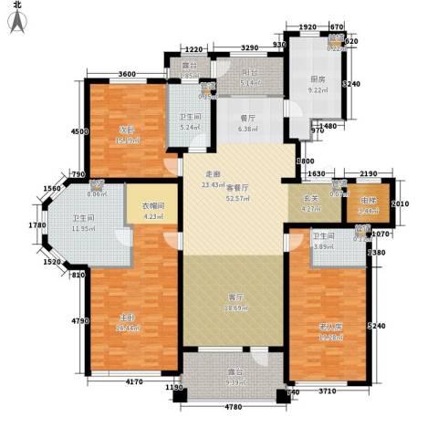 辰能溪树河谷3室1厅3卫1厨231.00㎡户型图