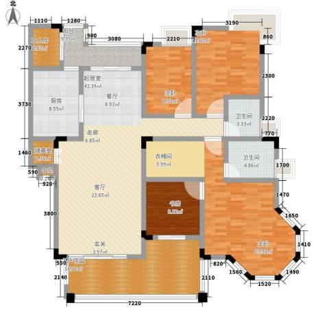 盛世名门4室0厅2卫1厨165.00㎡户型图