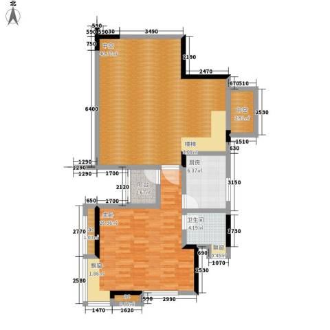 中铁山水天下1室0厅1卫1厨125.00㎡户型图