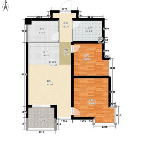 小悉尼自由岛2室0厅1卫1厨92.00㎡户型图
