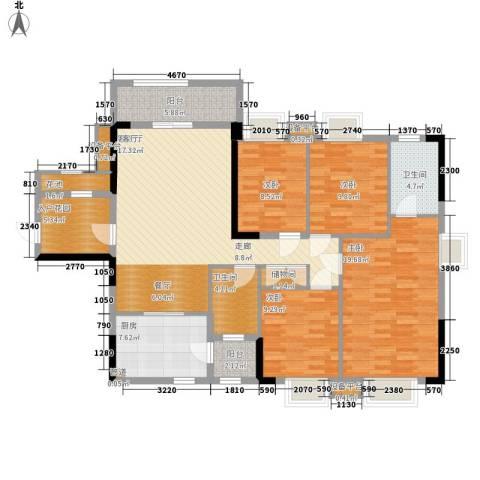 华侨城4室1厅2卫1厨162.00㎡户型图