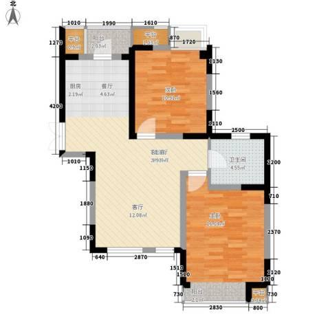 枫尚河院2室1厅1卫0厨91.00㎡户型图