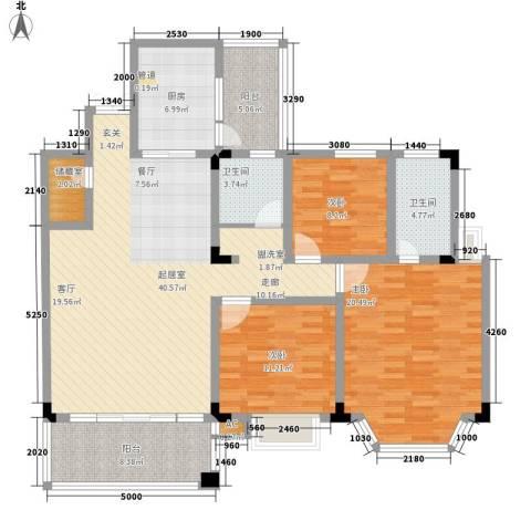 盛世名门3室0厅2卫1厨129.00㎡户型图
