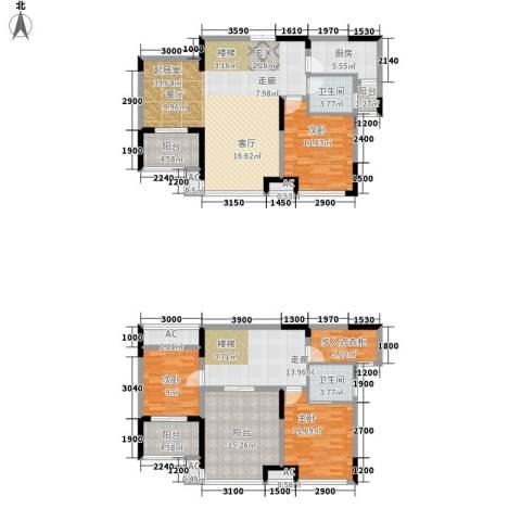 升华公园懿品3室0厅2卫1厨197.00㎡户型图