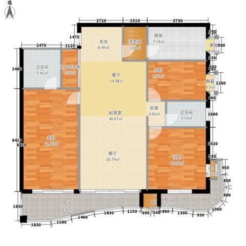 创远景园3室0厅2卫1厨268.00㎡户型图