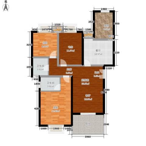 楼观古镇3室1厅2卫1厨114.00㎡户型图