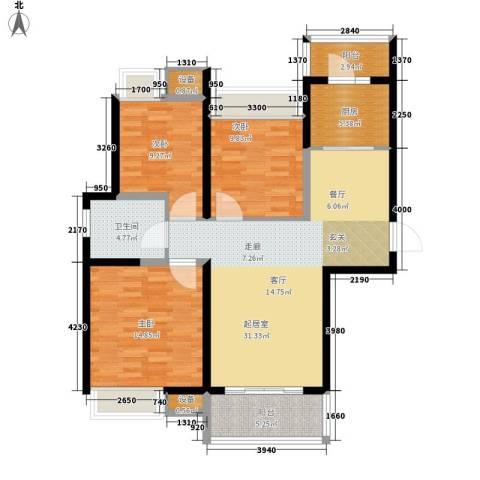 万国金色家园3室0厅1卫1厨98.00㎡户型图