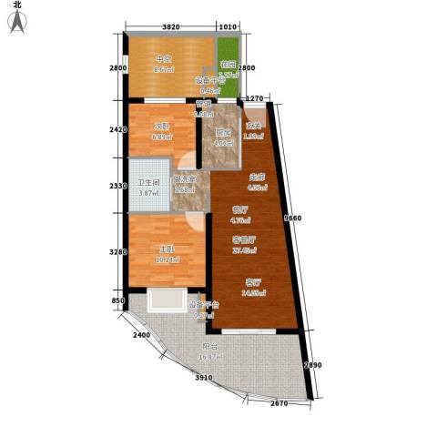 白金海岸2室1厅1卫1厨81.04㎡户型图