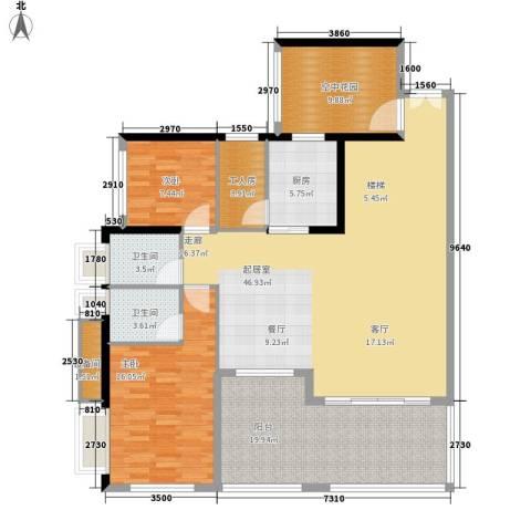 城启天鹅湾2室0厅2卫1厨266.00㎡户型图